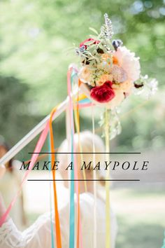 DIY Maypole @Brittany Jepsen | The House That Lars Built | Find flowers, ribbon and more from Joann.com