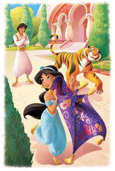Jasmine Aladdin and Raja Disney Pixar, Disney And Dreamworks, Disney Cartoons, Disney Animation, Walt Disney, Disney Wiki, Disney Posters, Disney Characters, Disney Princess Jasmine