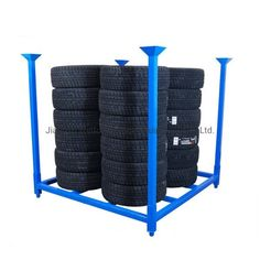 [Tire Rack]Industrial Warehouse Storage Heavy Duty Metal Stacking Tyre Shelf, Production Capacity:5, 000 Ton/Month, Usage:Tool Rack, Beverage, Clothing, Tools, Supermarket, Food, Industrial, Warehouse Rack,Material: Steel,Structure: Rack,Type: Stacking Rack,Mobility: Mobile,Height: 0-5m,, Tyre Shelf, Stacking Shelf, Metal Shelf, Model NO.: TSR-001, Weight: More Than 1,000kg, Closed: Open, Development: New Type, Serviceability: Common Use, Surface Treatment: Powder Coated, Color: Blue and…