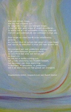 Gebed van Overgave. Rudolf Steiner
