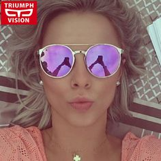 TRIUMPH VISÃO Da Moda Retro Mulheres Óculos De Sol Espelho Redondo de Metal de Alta Qualidade Óculos Óculos de Sol Do Vintage Feminino 2016 Novos Tons em Óculos de sol de Das mulheres Roupas & Acessórios no AliExpress.com | Alibaba Group