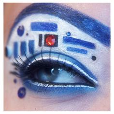 Geek eye makeup puts 'Star Wars Avengers on your face ❤ liked on Polyvore featuring beauty products, makeup, eye makeup, beauty, eyes and lullabies