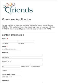 Camp & Retreat Ministries Volunteer application form | Volunteer ...