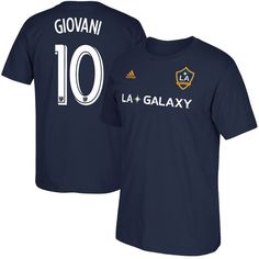 Giovani dos Santos LA Galaxy Male Adult 2017 MLS Player Name and Number T-Shirt - Navy
