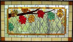 Image result for stained glass leaves