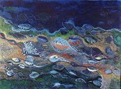 "Flow-print by M. Kolsoum Ginney Oil ~ 11"" x 14"""