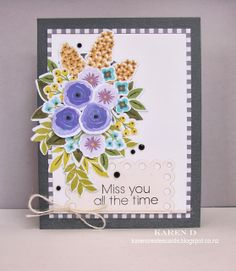 Karen Creates Cards: Fresh Cut Florals from Wplus9