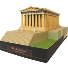 The Parthenon, Greece,Architecture,Paper Craft,Europe,Greece,yellow,world heritage,temple,building