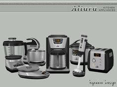 Whether your sim is a rising baking star or sees himself as a budding barista, Altara Kitchen Appliances has a wide range of small appliances that are perfect for his home. Found in TSR Category...