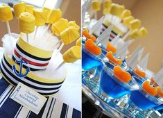 Nautical theme for Boy Baby Shower... these are cute Ideas!