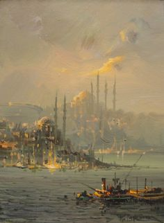 Remzi Taşkıran- Boğaz. Dying to go to Istanbul...and to own this painting.