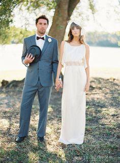 FREE SHIP Size 0 Organic Lace Wedding Dress Silk by maudecouture