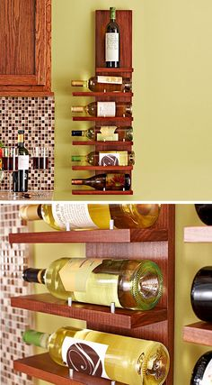 No room for a wine cellar? Just store and showcase your favorite vintages on this compact rack—and impress friends with your handiwork. DIY