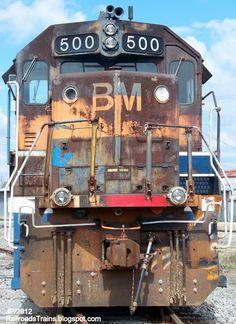 BM+500+Boston+-+Maine+Railroad+GP40-2+Locomotive+Train+Engine+Nose+Shot+now+Helms+leased+to+Georgia+Florida+RR...JPG (1164×1600)