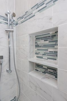 Bliss Waterfall Stone and Glass Linear Mosaic Tiles | HOUSE ...