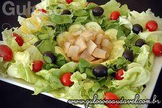 Receita de Salada de Yakon com Folhas Verdes