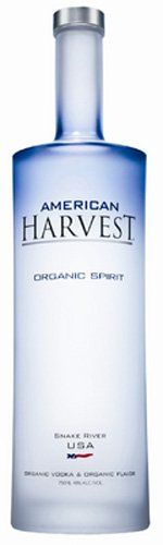 "American Harvest Organic Spirit Proof66 Notes  American Harvest Organic Spirit is a new style of flavored vodka. While it is made in Idaho by Distilled Resources, it was commissioned by Sidney Frank, who is famous for having created (and later sold) the Grey Goose vodka brand. The brand is owned by American Harvest Distilling. The spirit itself is made from a base of organic wheat and blended down with water from the Rocky Mountains Snake River, which gives rise to the ""Snake River USA"""