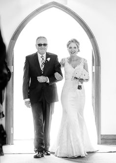Bride and her father in the chapel at Ballara Receptions #wedding #photography #melbourne #weddingphotography #ballarareceptions