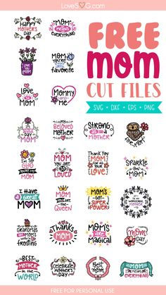 Free Silhouette Files, Silhouette Cameo Vinyl, Silhouette Cameo Projects, Silhouette Machine, Svg Files For Cricut, Free Svg Cut Files, Mother Daughter Quotes, Mothers Day Quotes, Cutting Files