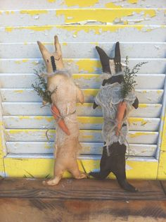 Primitive Flopsy and Mopsy Rabbits Ready to by Rabbithollowprims, $12.95