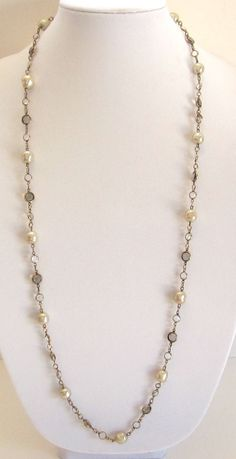 Authenticated Vintage Chanel 1981 Smokey Glass Crystals and Genuine Baroque Pearls