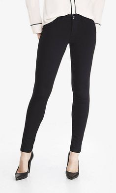 Ponte Knit Five-pocket Pant from EXPRESS