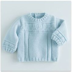 Phildar - Sweater Baby Blue - pattern in French