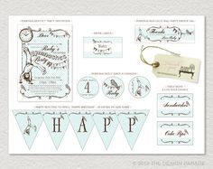 PRINTABLE Gymnastics Party Pack including by TheDesignParade, $50.00