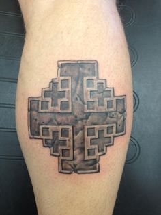 Stone Jerusalem Cross