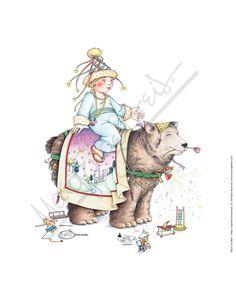 Boy & His Bear Fine Print - Mary Engelbreit Mary Engelbreit, Artist Album, Vintage Artwork, Original Artwork, Art Gallery, Artsy, Fine Art Prints, Bear, Drawings