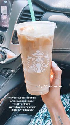 need more coffee Starbucks Hacks, Starbucks Secret Menu Drinks, Starbucks Recipes, Starbucks Iced Coffee, Coffee Drinks, Low Calorie Starbucks Drinks, Vegan Starbucks, Yummy Drinks, Healthy Drinks