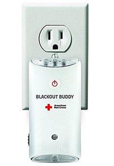 The American Red Cross Blackout Buddy Emergency LED flashlight, blackout alert and nightlight, ARCBB200W-SNG
