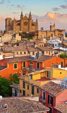 Die Cathedral La Seu in Mallorcas Hauptstadt, Palma de Mallorca. #Frühlingsreise
