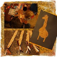 Pin the tail on the giraffe . Giraffe Party!