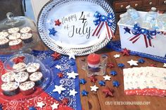 "I thought it would be fun to see what I could come up with items from Dollar Tree to use for the 4th of July holiday!      So I started with the shiny silver plastic platter.   I knew I wanted to make a sign out of it and didn't want the shiny silver, so I took it outside and used white spray paint.      I used my silhouette to create and cut out a vinyl decal for my sign, and I chose to go with ""Happy 4th of July""   I placed it onto my sign and then to give it a more rustic look, I us… Diy Candle Holders, Diy Candles, Holiday Parties, Holiday Fun, Diy Faux Rocks, Mother Daughter Projects, July Holidays, White Spray Paint, Printed Napkins"