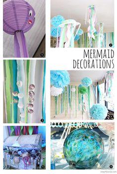 party decoration mermaid theme   Mermaid Decorations: