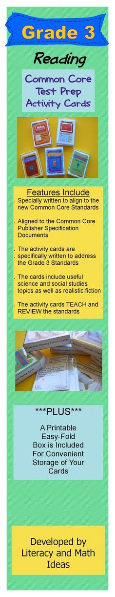 Literacy & Math Ideas: Grade 3 Common Core Resources