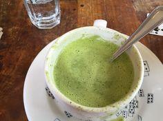 Raw greens soup #jivamukticafe #nyc #betterthenithought