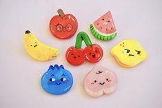 Fruity Cuties Clay Pin | Etsy
