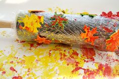 rolling pin leaf print - autumn kid craft - fall kid crafts crafts for kids- acr. Autumn Crafts, Fall Crafts For Kids, Autumn Art, Autumn Theme, Autumn Leaves, Kid Crafts, Toddler Crafts, Holiday Crafts, Fall Activities For Toddlers