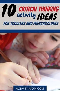 Develop critical thinking skills in your toddler and preschooler with these simple and fun activities.   #criticalthinking #kids #preschooler #toddler  #problemsolving Outdoor Activities For Toddlers, Toddler Learning Activities, Rainy Day Activities, Interactive Activities, Parenting Toddlers, Kindergarten Activities, Toddler Preschool, Fun Learning, Critical Thinking Activities
