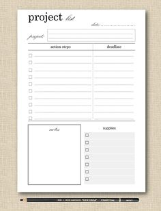 Essay Project Presentation Printable Student Planner Student