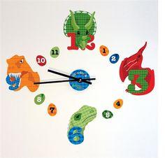 Dinosaur Stick Clock Wall Sticker