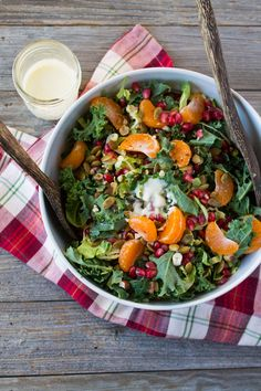 Holiday Winter Salad with Pomegranate and Satsuma
