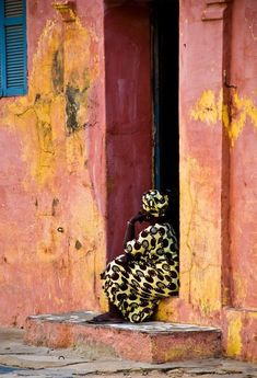 Woman at her door on Goree Island,Senegal We Are The World, People Around The World, Around The Worlds, Out Of Africa, West Africa, Senegal Africa, South Africa, Kenya Africa, African Culture