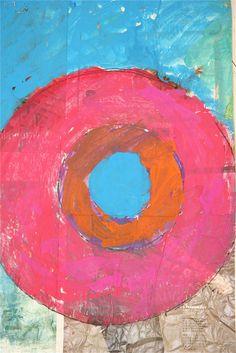 Splish Splash Splatter: Jasper Johns Target Paintings by grade school students, 2012