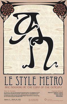 Metro Type – Art Nouveau Typography.