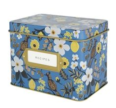Capri Recipe Tin Boxes from Rifle Paper Co.