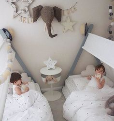 Siffroy tipi child's bed with base , white, La Redoute Interieurs Unisex Bedroom Kids, Baby Bedroom, Kids Bedroom Designs, Kids Room Design, Baby Decor, Kids Decor, Shared Baby Rooms, Childrens Beds, Nursery Inspiration