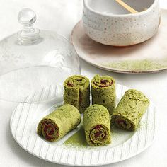 Recipe for Matcha Tea Jelly Roll Cakes : La Cucina Italiana